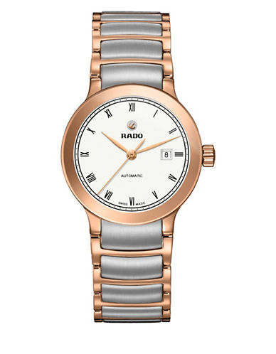 Rado Automatic Centrix Two-tone Bracelet Watch-ROSE GOLD-One Size