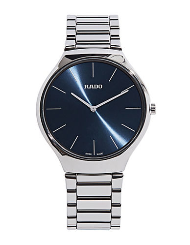 Rado True Thin Quartz Bracelet Watch-SILVER-One Size