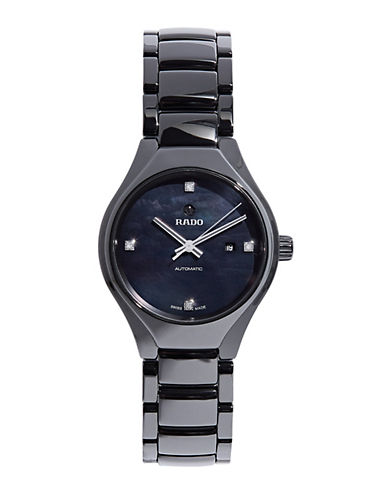 Rado True Quartz Bracelet Watch-BLACK-One Size