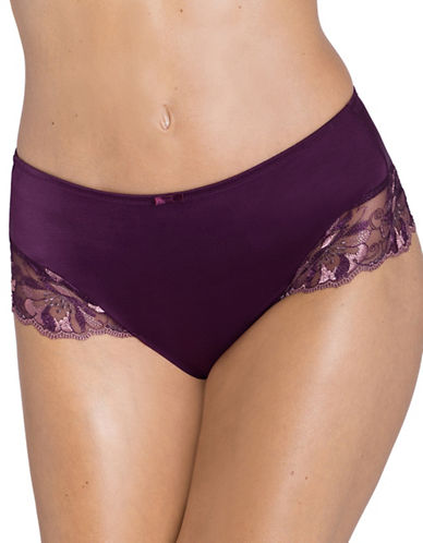 Triumph Modern Bloom Bikini Panties-AUBERGINE-Large