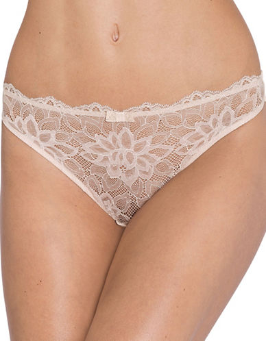 Triumph Dream Spotlight Lace Thong-NUDE BEIGE-Large