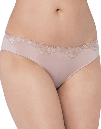 Triumph Lace Trim Briefs-SMOOTH SKIN-Small