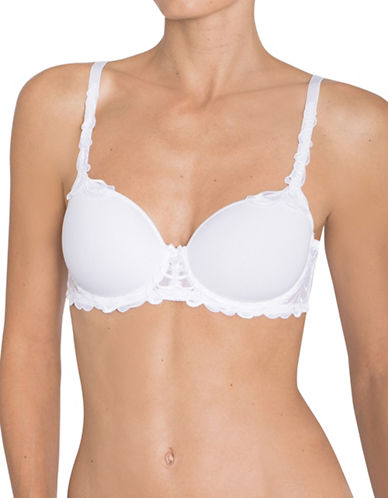 Triumph Molded Lace Trim Bra-WHITE-36F