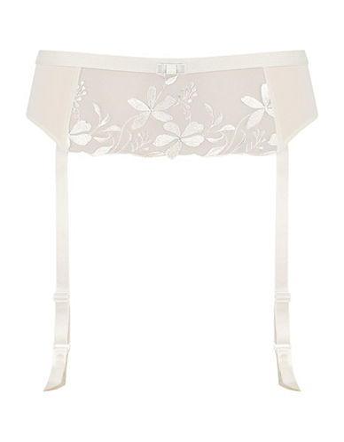 Triumph Sexy Angel Spotlight Suspender Belt-WHITE-Small