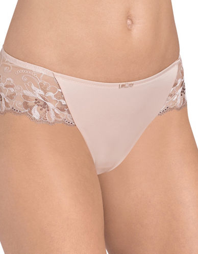 Triumph Modern Bloom Bikini Panties-BEIGE-X-Large