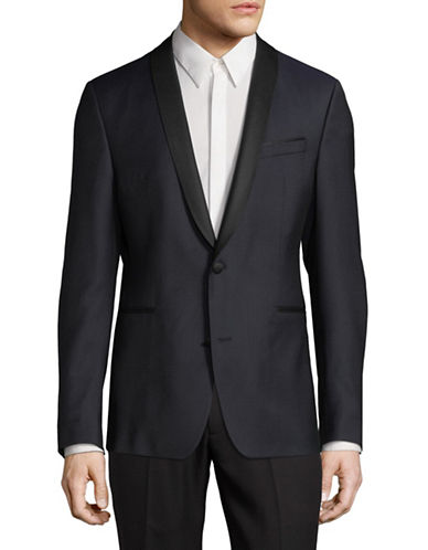 Strellson YRO Wool-Blend Suit Jacket-NAVY BLUE-40