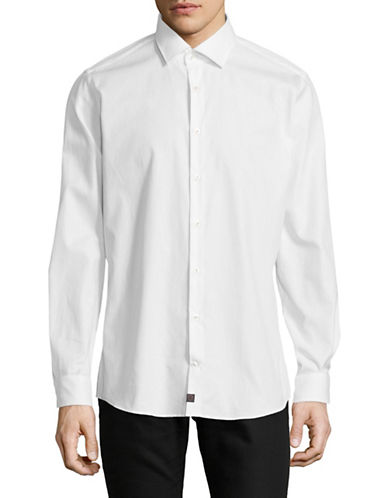 Strellson Sandor-C Cotton Sport Shirt-WHITE-17-32/33