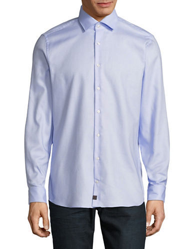 Strellson Sandor-C Cotton Sport Shirt-BLUE-17.5-32/33