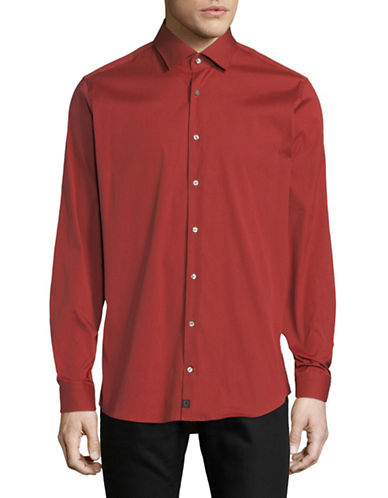 Strellson Santos Cotton Sport Shirt-RED-16.5-32/33