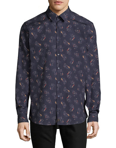 Strellson Sal Printed Cotton Sport Shirt-BLUE-17-32/33