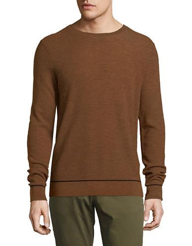 Strellson Wool Long Sleeve Pullover-ORANGE-Large