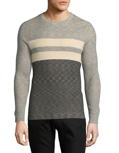 Strellson River Cotton Sweater-GREY-Medium