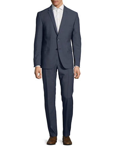 Strellson Classic Wool Blazer and Pants Set-BLUE-46