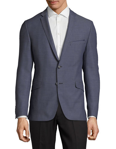 Strellson Textured Wool Suit Jacket-NAVY-36