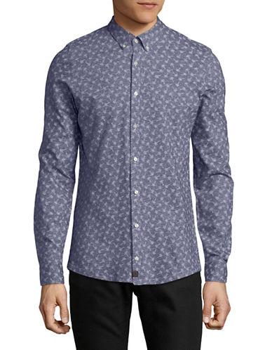 Strellson Palm-Print Sport Shirt-BLUE-15.5-34/35