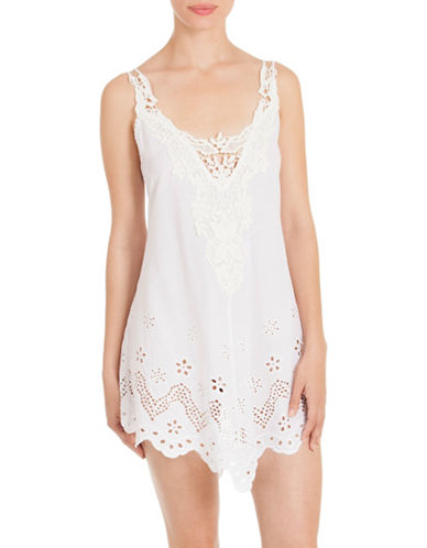 In Bloom Idlewild Cotton Chemise-WHITE-Small