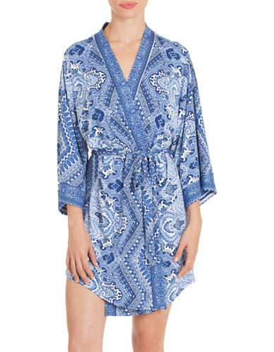 In Bloom Moonrise Wrapper Robe-BLUE-Small