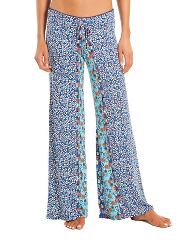 In Bloom Floral Pajama Bottom-BLUE-Medium