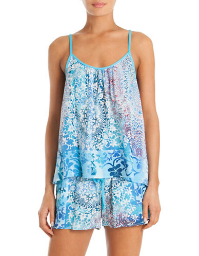 In Bloom Printed Camisole Set-BLUE-Small