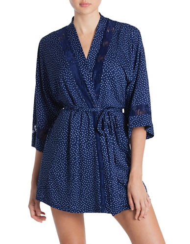 In Bloom Might Sky Wrap Robe-NAVY PRINT-X-Large