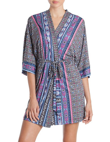 In Bloom Geometric Wrapper Robe-BLUE-Large