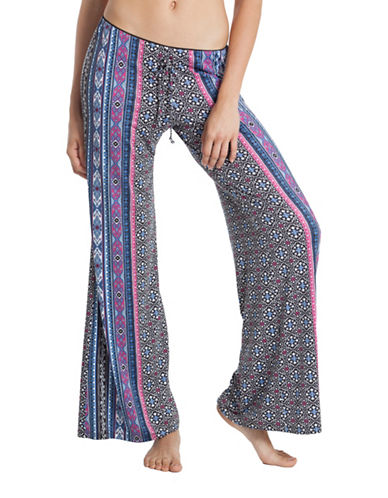 In Bloom Wide Leg Geometric Pants-BLUE-Small 89407782_BLUE_Small