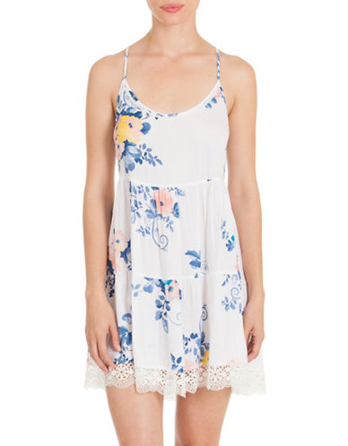 In Bloom Crepe Floral Printed Chemise-MAGNOLIA-Medium