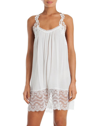 In Bloom Kiss the Sky Chemise-WHITE-Small