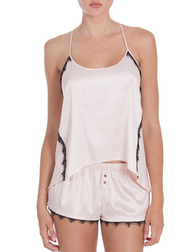 Midnight Bakery York Satin Camisole-PINK-X-Large
