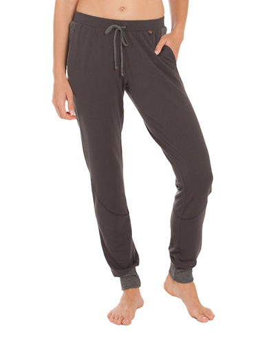 Midnight Bakery Charlie Drawstring Pants-GREY-Small
