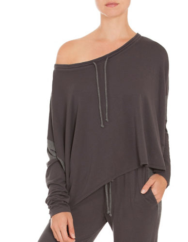 Midnight Bakery Charlie One-Shoulder Top-GREY-X-Large