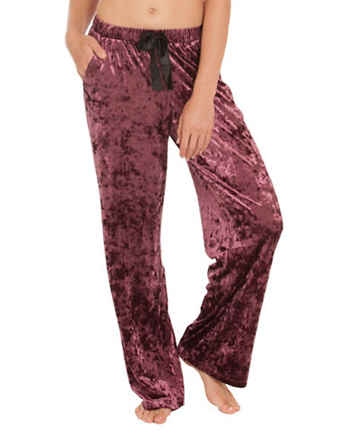 Midnight Bakery Oxford Velvety Pants-RED-X-Large
