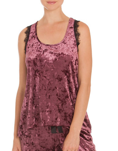 Midnight Bakery Oxford Velvety Tank Top-RED-Small