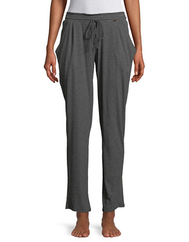 Midnight Bakery Ribbed Sweatpants-CHARCOAL-Medium