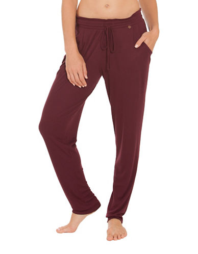 Midnight Bakery Straight-Leg Joggers-WINE-Medium