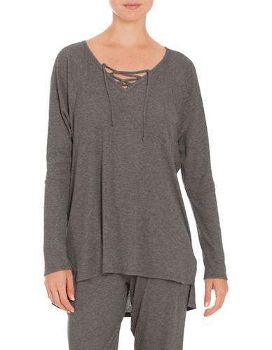 Midnight Bakery Remy Hi-Lo Top-GREY-Small