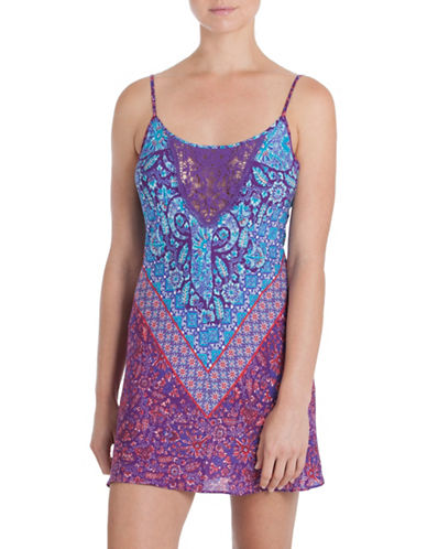 In Bloom Tapestry Chemise-PURPLE-X-Large
