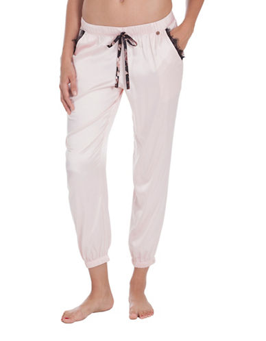 Midnight Bakery York Satin Pants-GREY-Small