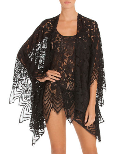 In Bloom Floral Lace Wrap-BLACK-One Size