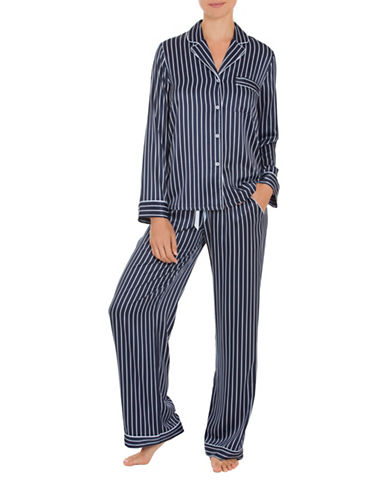 In Bloom Sophia Striped Pajamas-BLUE-X-Large