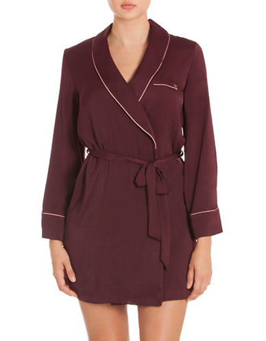 Midnight Bakery Relaxed Robe-WINE-Large