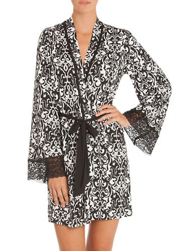 In Bloom Ivy Print Wrap-BLACK/IVORY-X-Large