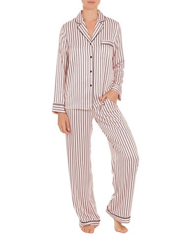 In Bloom Sophia Striped Pajamas-BLUSH-Large