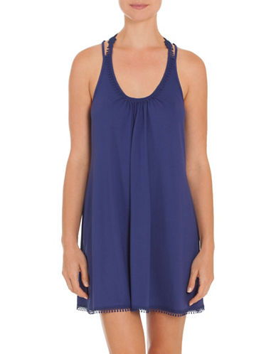 In Bloom Shiraz Embroidered Chemise-BLUE-Medium