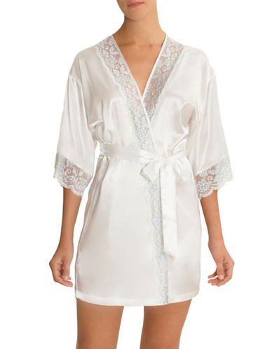 In Bloom Blue Belle Bridal Robe-IVORY-Large/X-Large