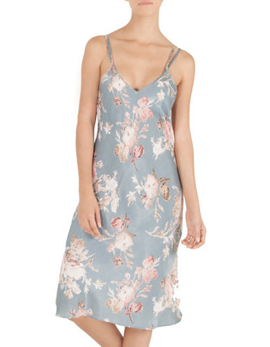 Midnight Bakery Floral Midi Slip Night Gown-FLORAL PRINT-Small