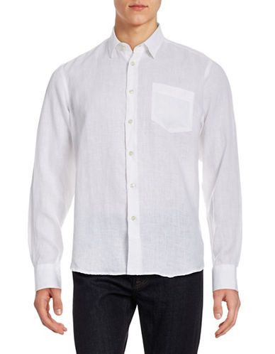 Vilebrequin Solid Linen Shirt-WHITE-Large