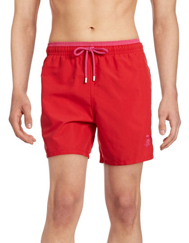Vilebrequin Moka Swim Trunks-RED-X-Large
