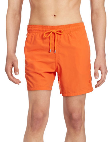 Vilebrequin Moorea Solid Swim Trunks-ORANGE-Medium