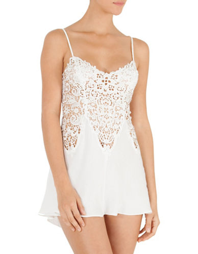 In Bloom Crochet Chemise-IVORY-Small